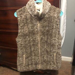 Cute Sherpa vest!